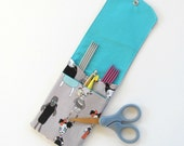 Zombies Knitting Needle Holder DPN Storage Case, Crochet Hooks Case, Notions Pouch