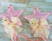Fabulous Fairy Wands. personalized,Flower Girl, star, fairy, streamers, bells.  Little girls love these.Photo props, birthdays