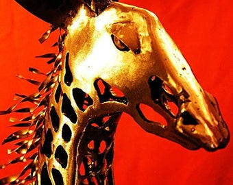 Giraffe Metal Sculpture/Custom Welded Metal Art