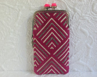 198A - iPhone 6 Case Fabric, iPod Touch Case, Cell Phone Case, Samsung Galaxy Case, eyeglass case, cover handmade