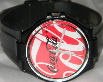 Vintage Classic Coke Brand Coca Cola Swatch Swiss Watch