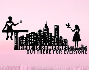 There Is Someone Out There For Everyone - Love Quote, Long Distance Relationship, Soulmate, Custom Quote, Gift for Couple Engagement, Gifts