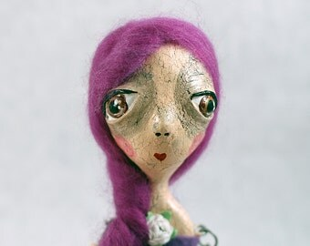Violet OOAK Paperclay Hinged Doll