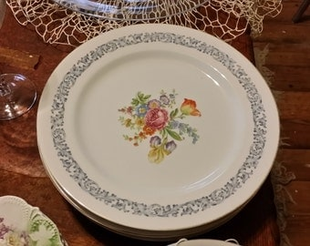 Vintage Aichi China Sheffield Pattern Dinner Plate - Made in Occupied Japan