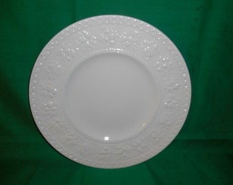 "One (1), 9 1/2"" Luncheon Plate, from Wedgwood, in the Wellesley D93217 Pattern."