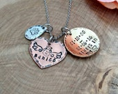 Personalized mixed metal dog memorial necklace, pet loss necklace, memorial pet necklace, dog angel necklace, dog lover necklace, dog angel