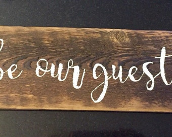 Reclaimed wood painted sign