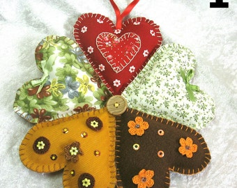 Wreath fabric hearts, country wreath, ornament wreath, decorative wreath, handmade, handcraft