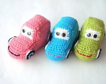 stuffed toy, eco friendly Crochet Car Baby toy, kids stuffed cars toys, toddler stuffed toys, crochet cars, gifts for kids ecofriendly toys
