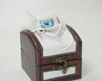 Stash Box Small Treasure Chest Trinket White Leather Harry Potter Labyrinth Storage Desk Organizer