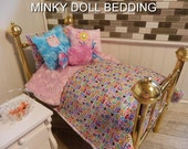 Pink and Blue mini Owls With Pink Minky,Reversible Comforter & Blanket all in one. 4 Decorative Pillows. #1