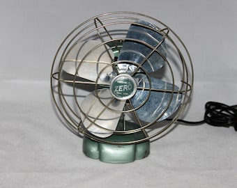 "Vintage 8"" Zero Fan, Drug Store Fan, Mid-Century Electric Fan, Desk Top Fan"