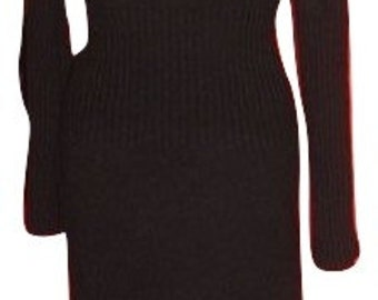 Sweater dress, black, M
