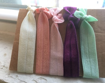 Yoga hair ties, elastic hair ribbon, pony tail holders