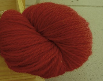 100% Wool yarn for knitting Cranberry red 100g N 6/2