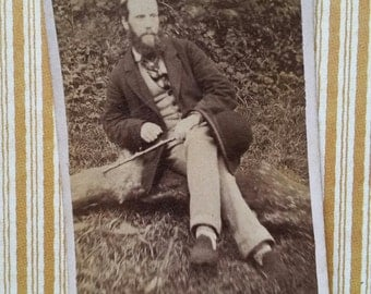 Fascinating Victorian Man Cabinet Card Photo