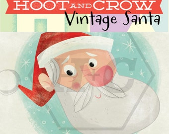 Vintage Santa Digital Clip Art for Personal and Commerical Use