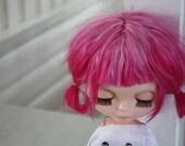 Hot pink alpaca scalp for blythe
