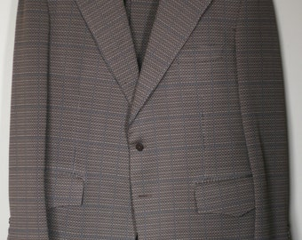 vintage brown pinstripe wool suit size 42 for young quinlans zxlE35