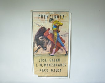 Vintage Bullfighting Poster - Spain, 1980's - Matador and Bull