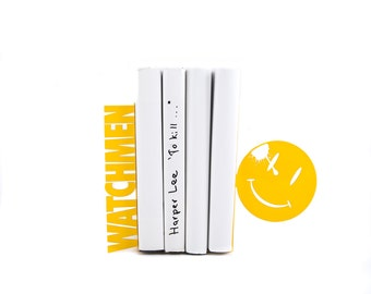Metal bookends - Watchmen - // decorative book holders // perfect gift DC comics lover // modern home decor // FREE SHIPPING