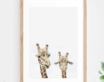 Giraffe Printable Wall Art Instant Download African Animal Photo Photography Wall Decor Modern Minimalist Wall Art Printable Poster Download