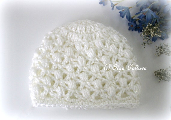 Crochet Baby Hat Patterns 6 Months : Soft Puffs Baby Crochet Beanie Hat Pattern Easy Crochet