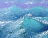 "77 - ""Hurricane Irene near Bahamas"",  5""x 7"" original canvas giclee print"