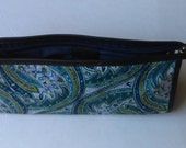 Liberty of London Blue Paisley Cosmetic Bag