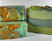 Goat milk soap-Royal Clover-handmade soap-shea butter-artisan soap-gift ideas-gifts for her-jasmine soap-swirled soap-scented soap