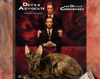 Cornish Rex Fine Art Canvas Print - The Devils Advocate Movie Poster NEW COLLECTION