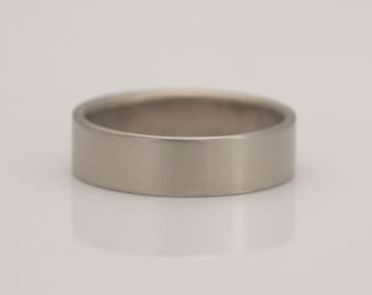 Men's wedding band, grooms 14k white gold ring, size 9 1/2 and custom sizes,  #446.