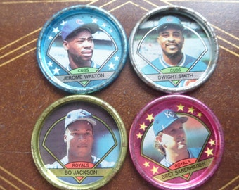4 - 1990s Topps Baseball Coins, Cubs & Royals  (T)