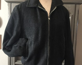 50s Wool Bomber Jacket