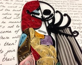 Quilling art | Jack and Sally | 11x14 framed