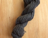 O-wool Balance Graphite Charcoal Grey organic Cotton Wool Blend Yarn Rustic Destash Sale