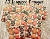 20 Spooky Owls Matchbook Notepads//Party Favor//Gift Bag Favor//Sale//Inventory Reduction Sale