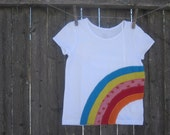 SALE Somewhere Over The Rainbow Ready to ship 3T Kids T shirt  St. Patricks Day