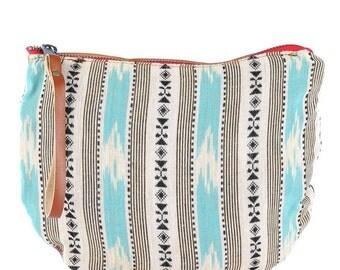 Nyiri Jaya Moon Clutch -Handmade Bohemian Fabric & Leather -Environmentally Conscious- purse/clutch/pouch/hand bag/tote