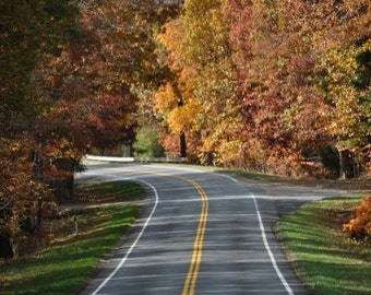 Fall Country Road Photography