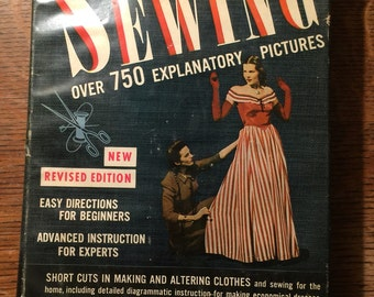Hardcover  Book: The Complete Book of Sewing, 1949