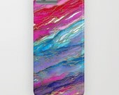 AGATE MAGIC Red Aqua Pink Lavender Girly iPhone 5 5C 6 6s 7 Plus Case Samsung Galaxy Case Marble Geode Swirl Abstract Art Watercolor Pattern