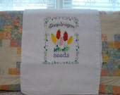 Snapdragon Seeds  Flour Sack Dish Towel