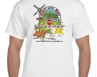 LARGE-Florida Not All Aboard T-shirt