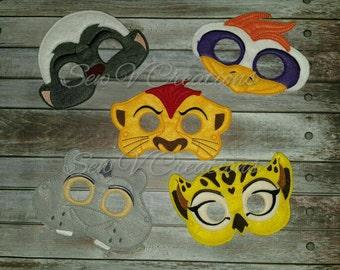 Lion Guard Inspired Masks