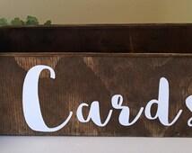 Wedding Card Box, Rustic Card Box, Wood Card Box, Wood Card Holder, rustic card holder, wedding card sign, card box, card holder, card sign