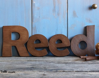 Rustic Wooden letters Shelf decor  Wall decor