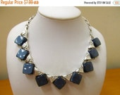 ON SALE Vintage Gray Moonbeam Lucite Necklace Item K # 2505