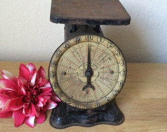 Antique 20 lb. Parcel Post Scale, American Postal Scale Co, Working Vintage Postal, Postage, Kitchen Scale