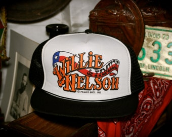 Vintage NOS Willie Nelson and Family Mesh Trucker Hat